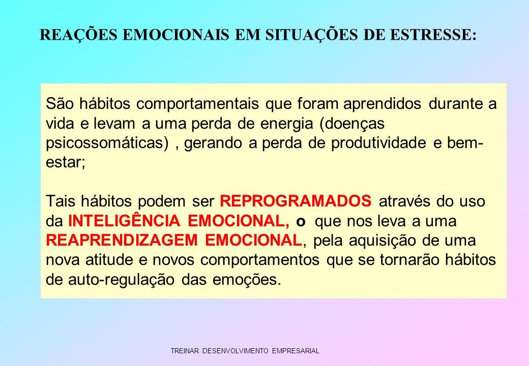 TREINAR DESENVOLVIMENTO EMPRESARIAL São hábitos comportamentais que foram aprendidos durante a vida e levam a uma perda de energia (doenças psicossomá