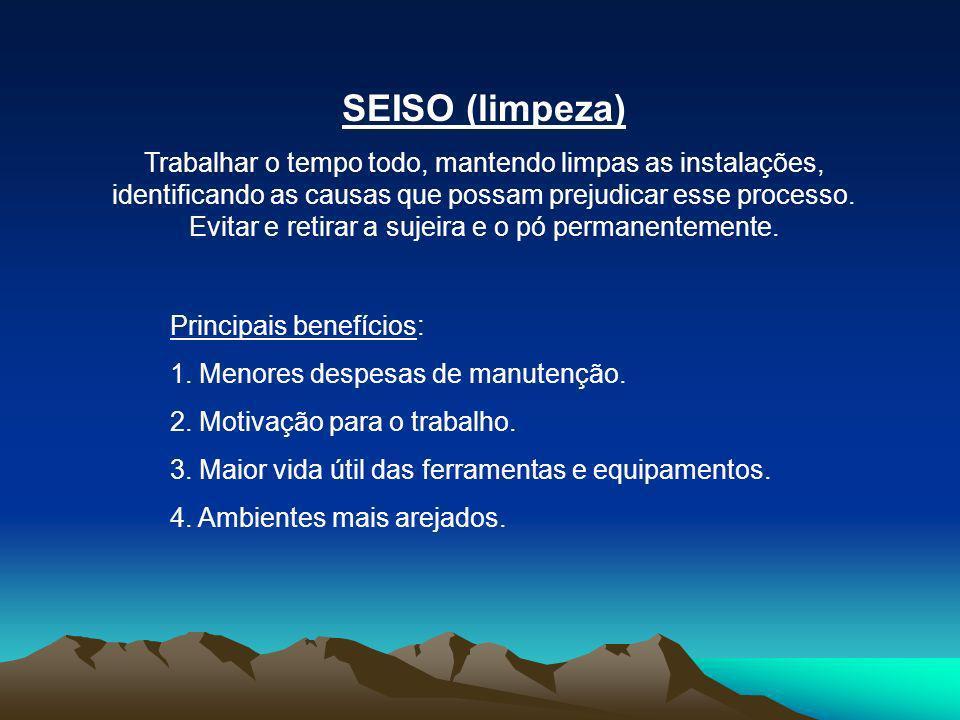 SEIKETSU (padronização/higiene) Manter todos os ambientes da empresa com as mesmas características de combinação dos SEIRI/SEITON/SEISO...