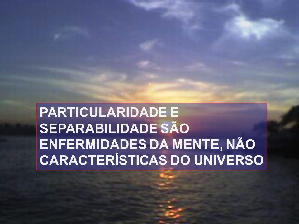 29 PARTICULARIDADE E SEPARABILIDADE SÃO ENFERMIDADES DA MENTE, NÃO CARACTERÍSTICAS DO UNIVERSO