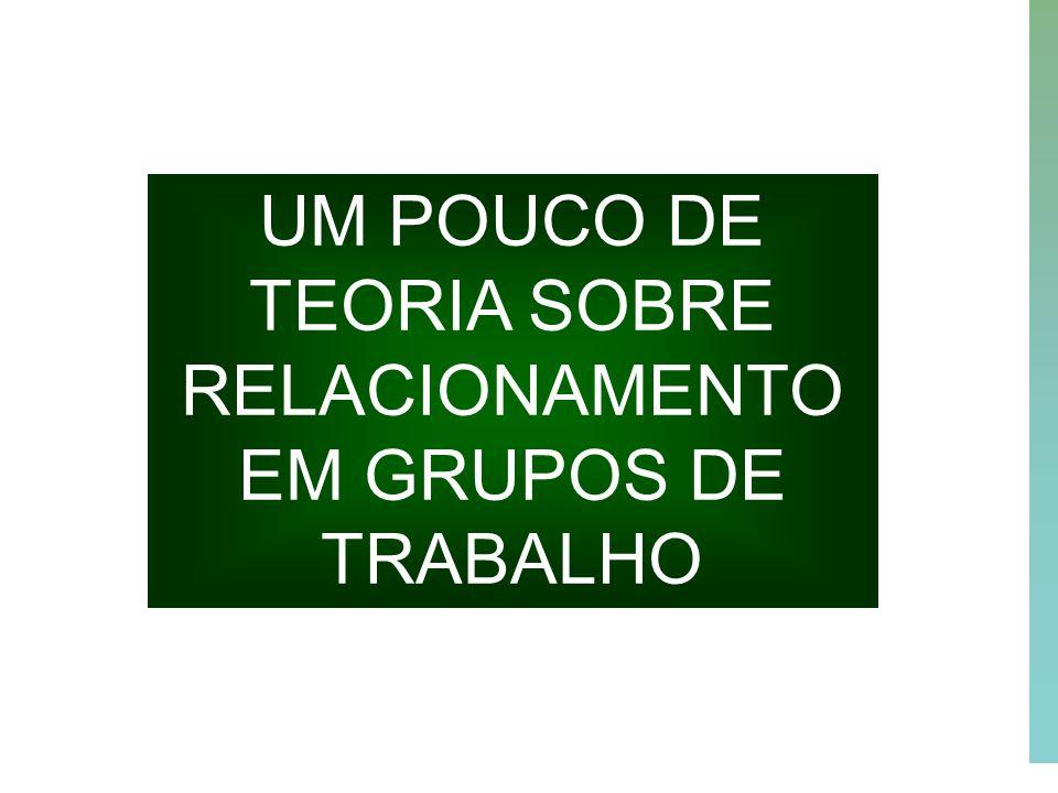 31 UM POUCO DE TEORIA SOBRE RELACIONAMENTO EM GRUPOS DE TRABALHO