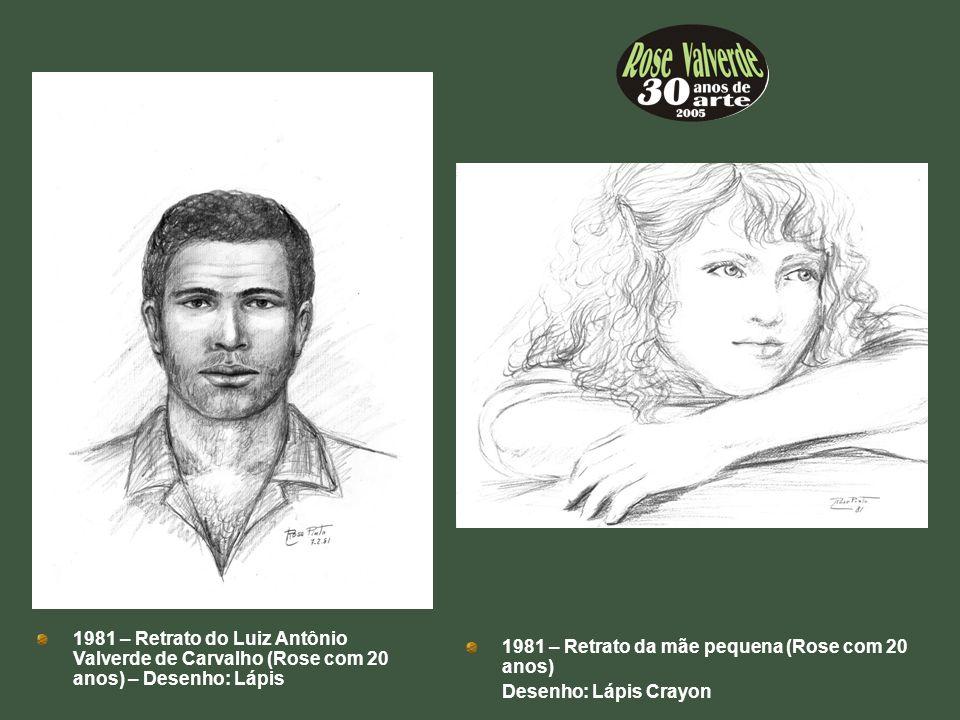 1981 – Retrato do Luiz Antônio Valverde de Carvalho (Rose com 20 anos) – Desenho: Lápis 1981 – Retrato da mãe pequena (Rose com 20 anos) Desenho: Lápi