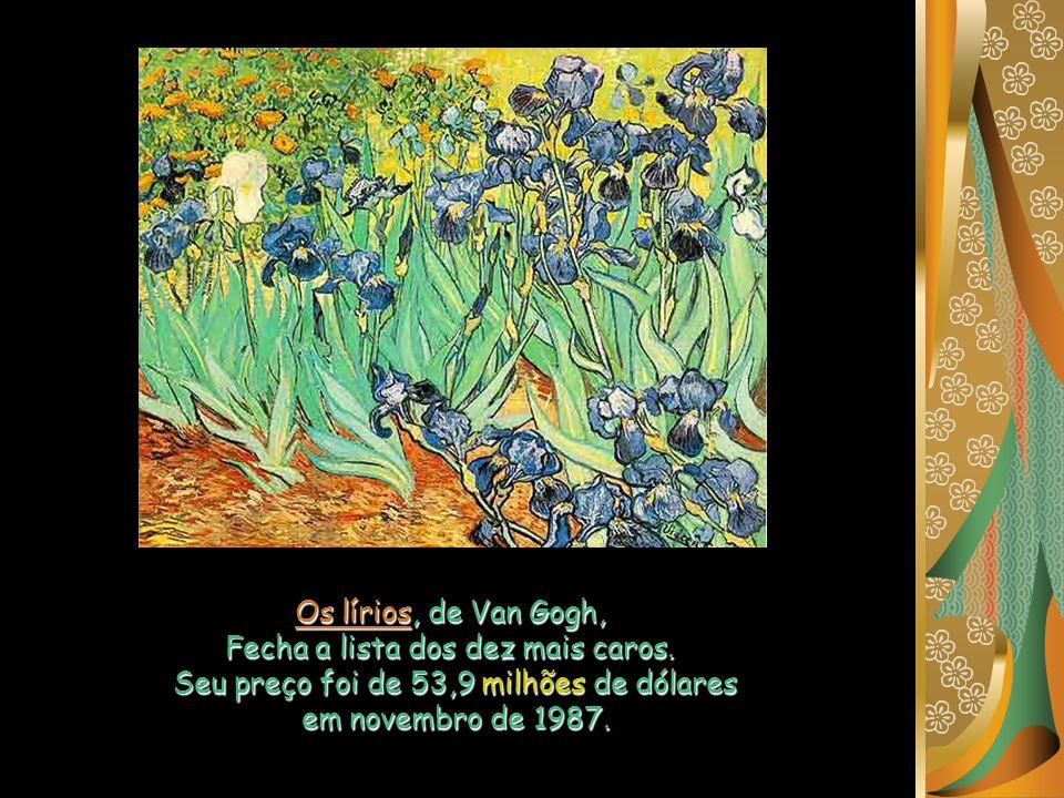Os lírios, de Van Gogh, Fecha a lista dos dez mais caros.