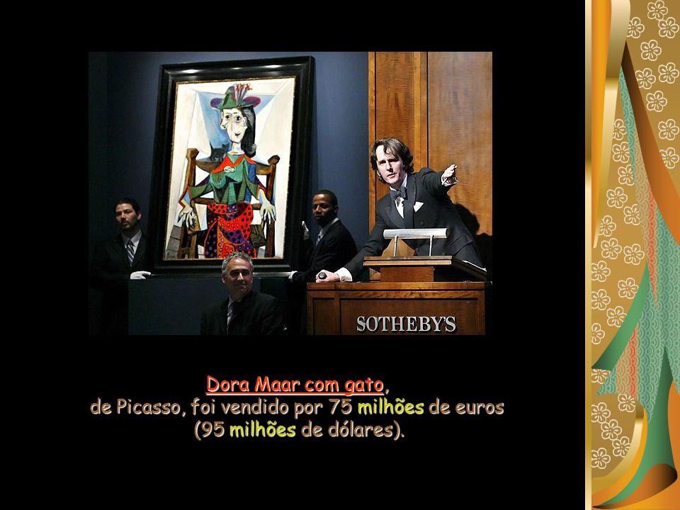 Dora Maar com gato, de Picasso, foi vendido por 75 milhões de euros (95 milhões de dólares).