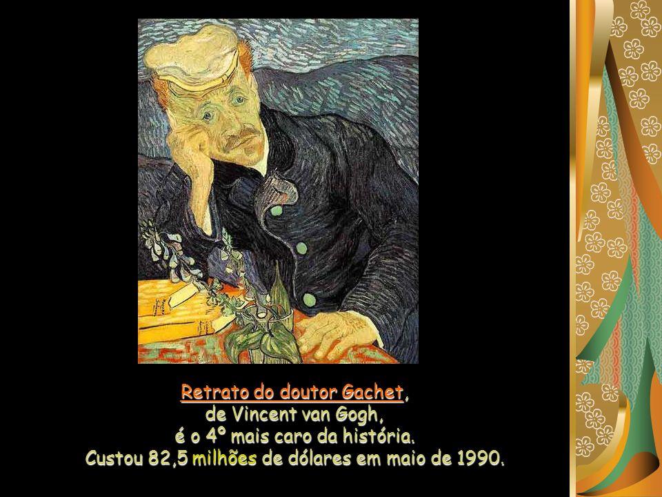 Retrato do doutor Gachet, de Vincent van Gogh, é o 4º mais caro da história.