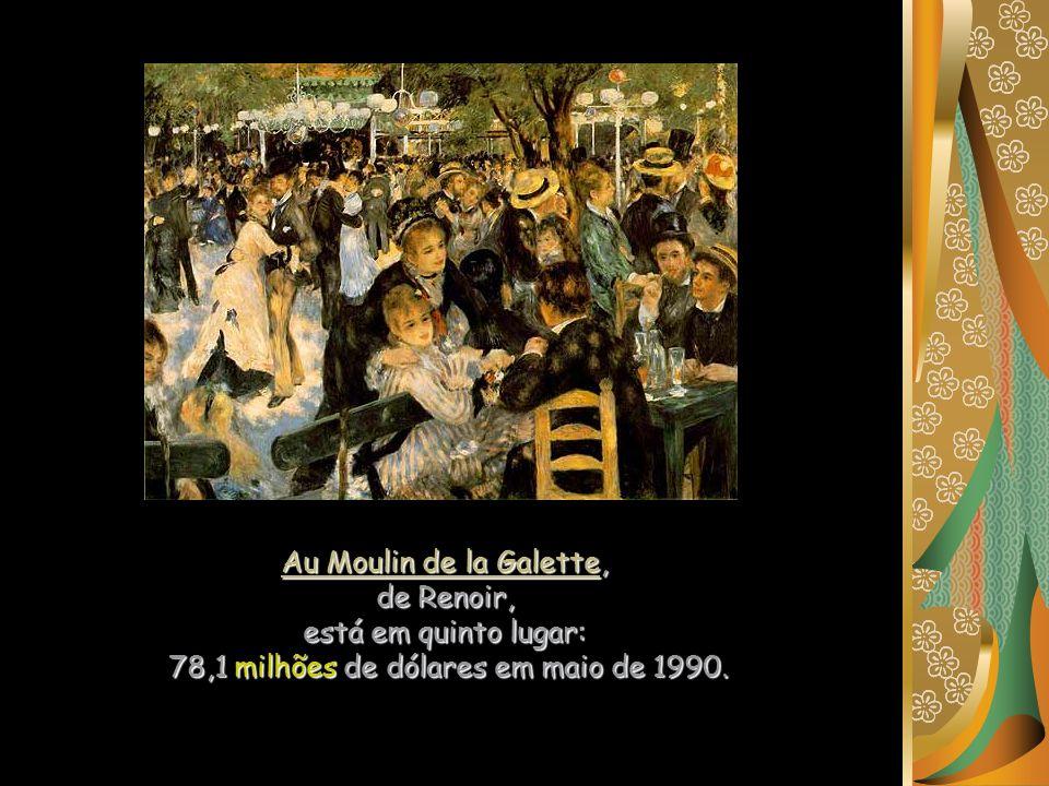 Au Moulin de la Galette, de Renoir, está em quinto lugar: 78,1 milhões de dólares em maio de 1990.