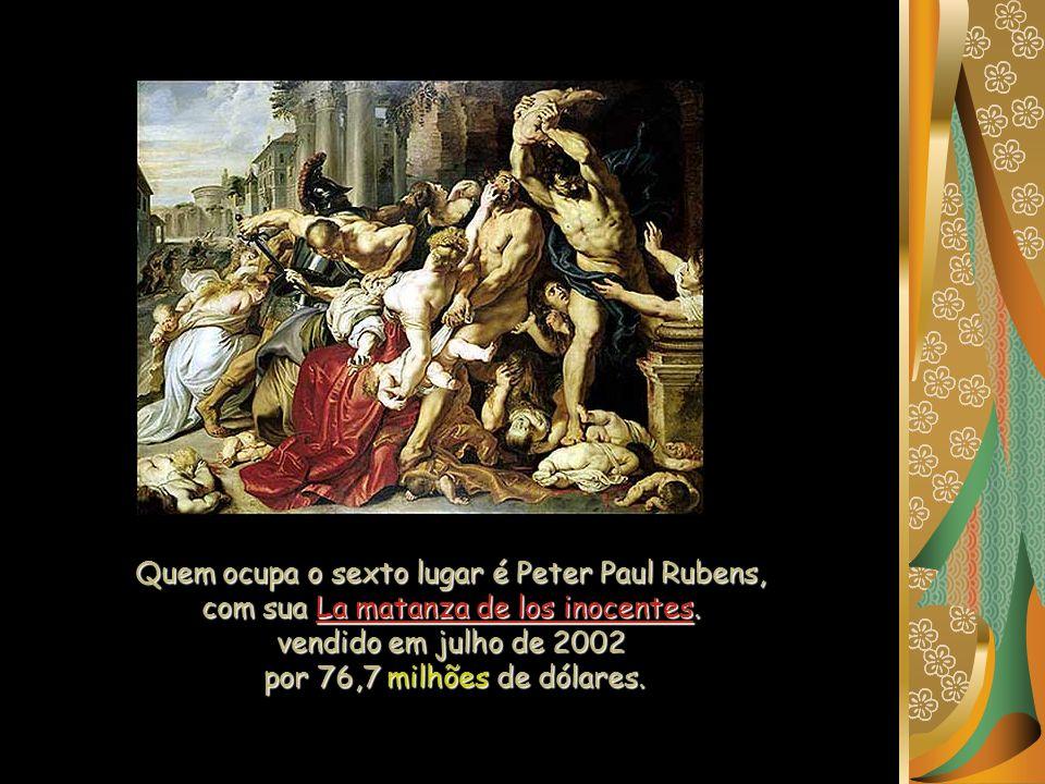 Quem ocupa o sexto lugar é Peter Paul Rubens, com sua La matanza de los inocentes.