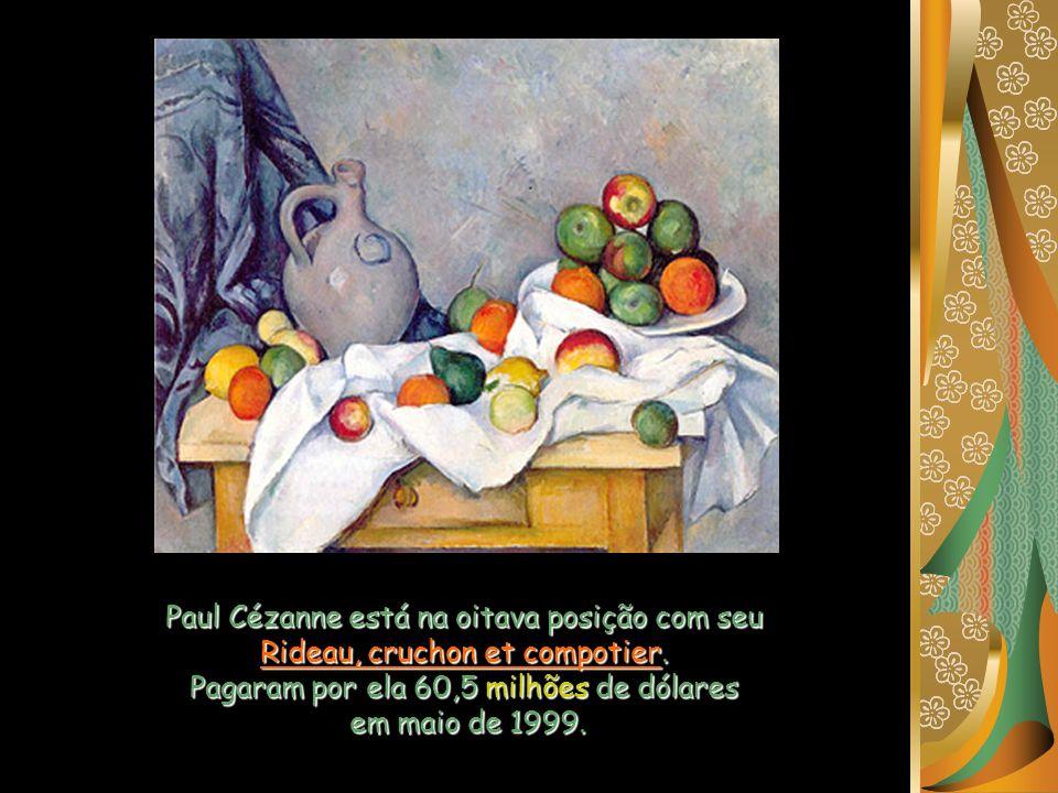 Paul Cézanne está na oitava posição com seu Rideau, cruchon et compotier.