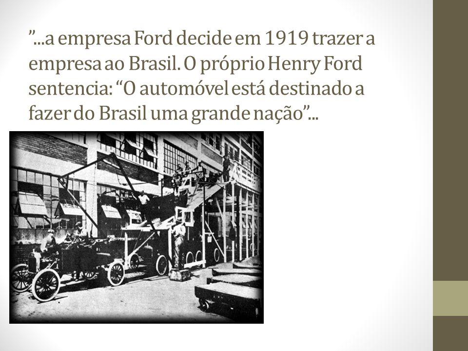 Fábrica da GM São Caetano do Sul Em 1930 - inaugura oficialmente sua primeira fábrica.