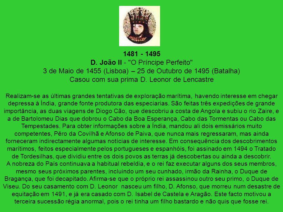 1481 - 1495 D. João II -