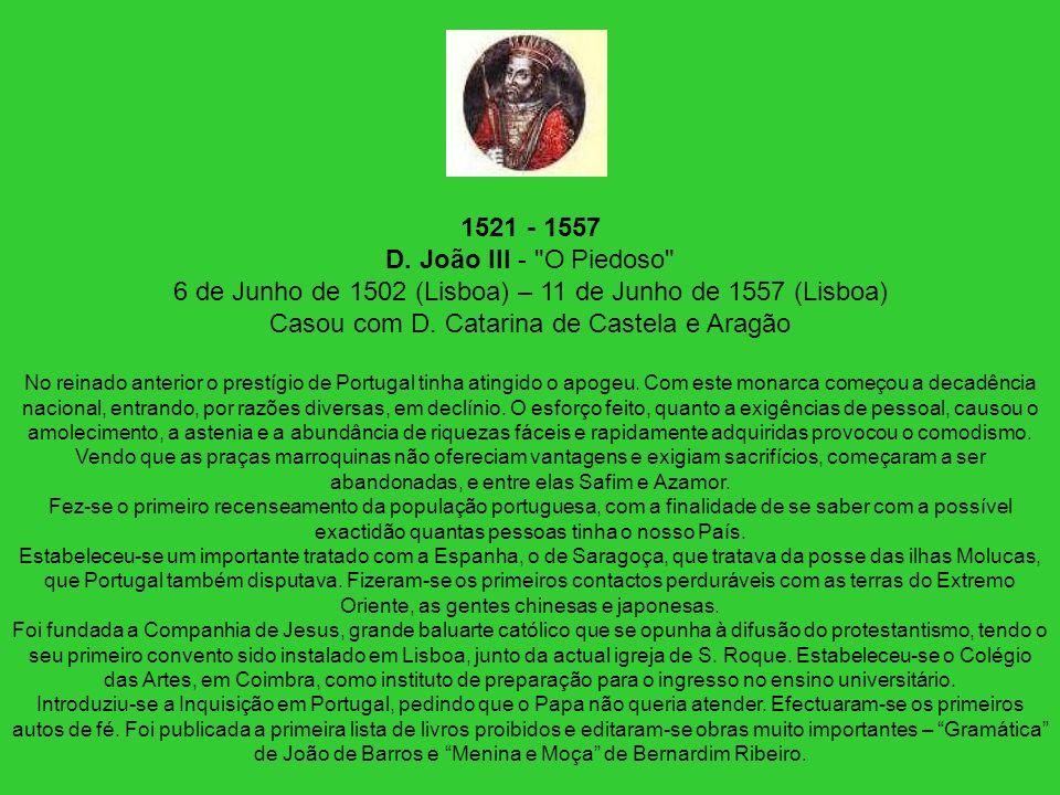 1521 - 1557 D. João III -