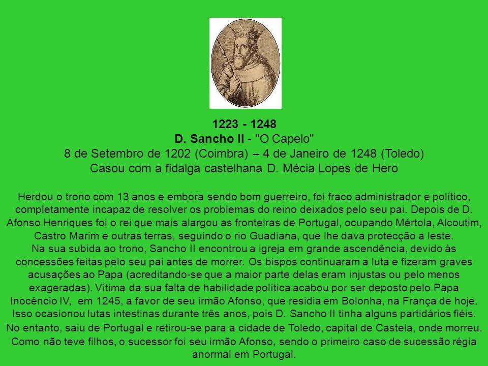 1223 - 1248 D. Sancho II -