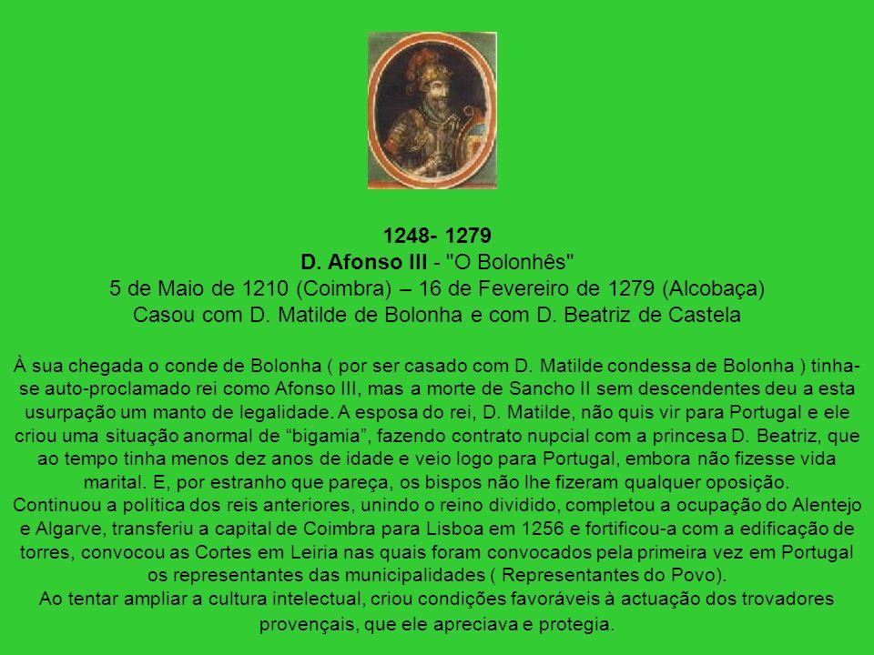 1248- 1279 D. Afonso III -