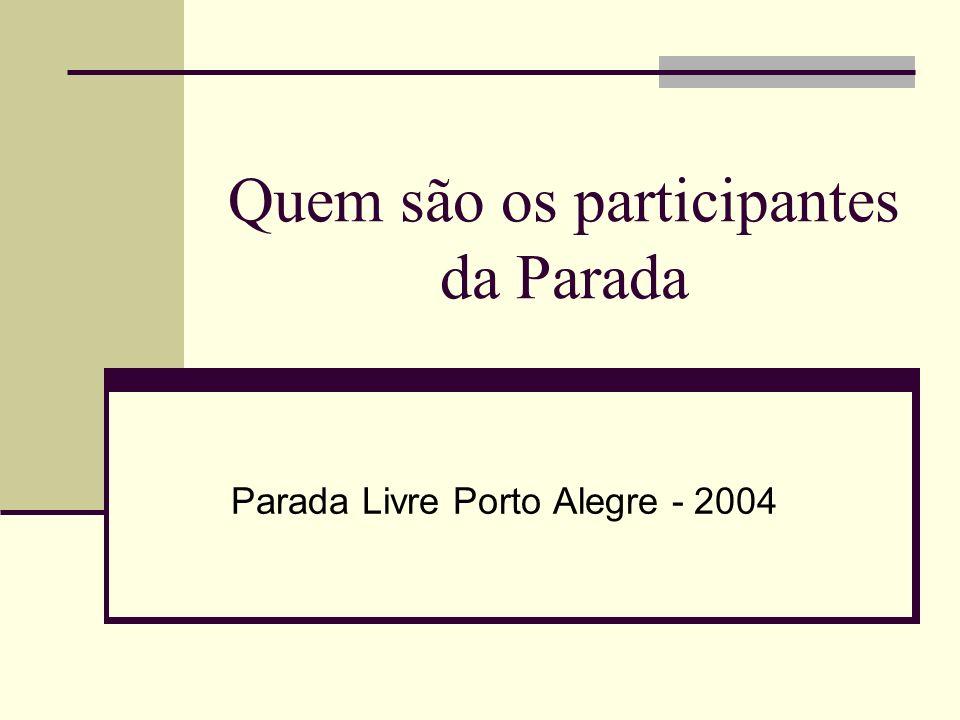 Quem são os participantes da Parada Parada Livre Porto Alegre - 2004