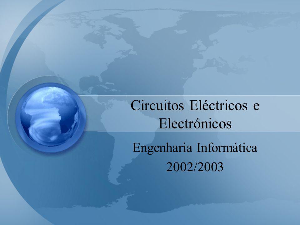 Introdução (Conteúdos) Introduzir os principais conceitos da teoria de circuitos, e a sua aplicação a circuitos eléctricos e electrónicos Grandezas físicas Circuitos resistivos lineares Análise de circuitos Teoremas gerais sobre redes eléctricas Díodos (circuitos não lineares) Amplificadores Operacionais