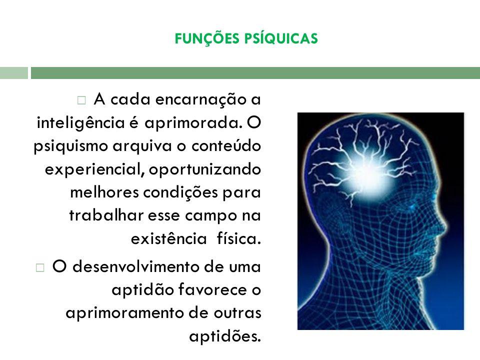 FUNÇÕES PSÍQUICAS Inteligência Inteligência - função mental que permite ao ser humano aprender ou conhecer (cognitiva), ou enfrentar situações novas (