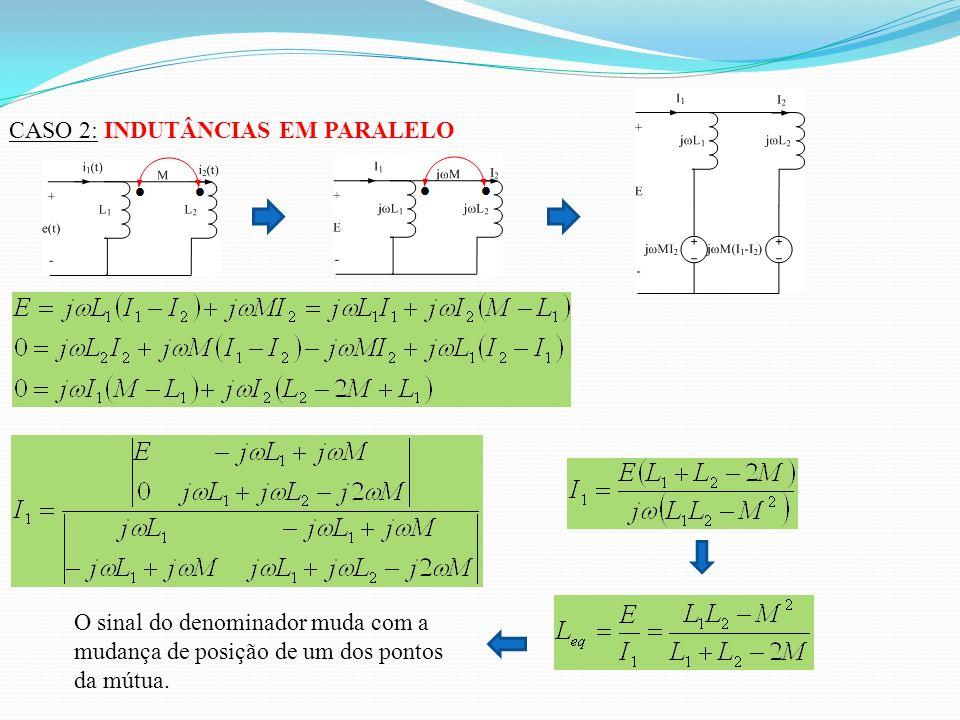 Considerando as equações (*) e (**), vem O valor de N é idêntico àquele assumido pelo transformador ideal, concluindo-se que o comportamento das bobinas acopladas com K = 1 é similar ao do transformador ideal.