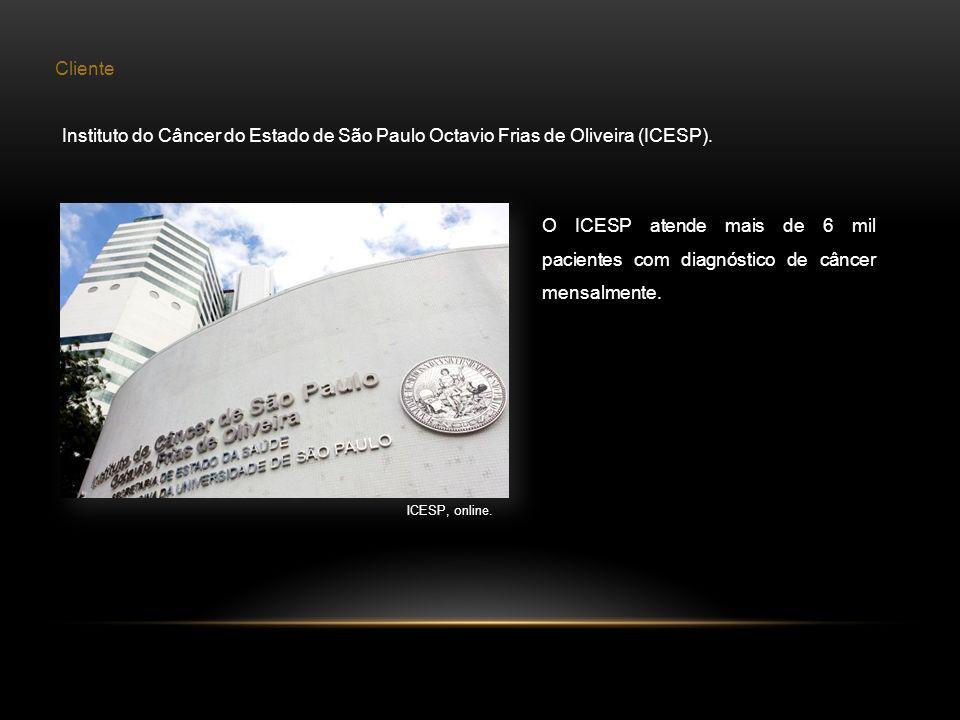 Cliente Instituto do Câncer do Estado de São Paulo Octavio Frias de Oliveira (ICESP). ICESP, online. O ICESP atende mais de 6 mil pacientes com diagnó