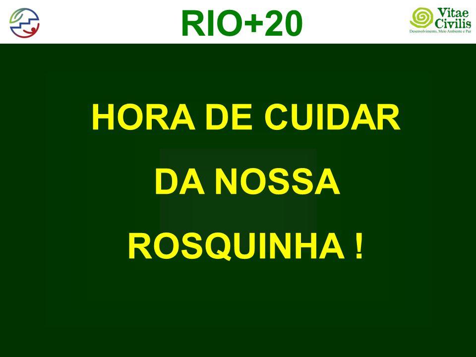RIO+20 HORA DE CUIDAR DA NOSSA ROSQUINHA !