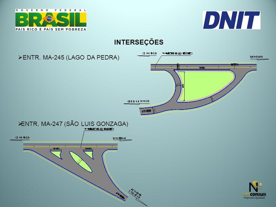 INTERSEÇÕES ENTR. MA-245 (LAGO DA PEDRA) ENTR. MA-247 (SÃO LUIS GONZAGA)