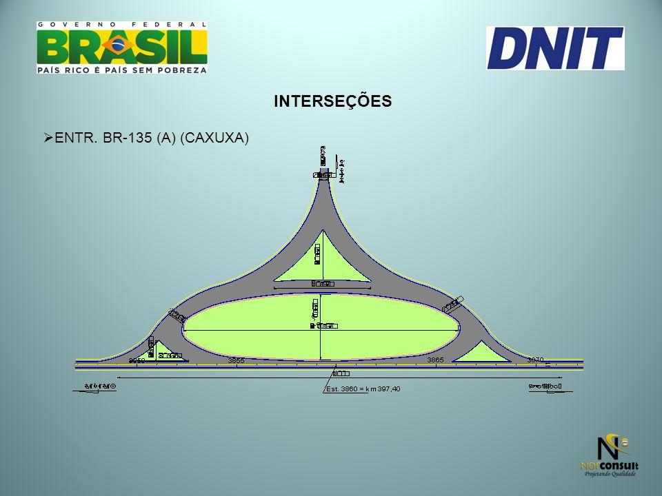 INTERSEÇÕES ENTR. BR-135 (A) (CAXUXA)