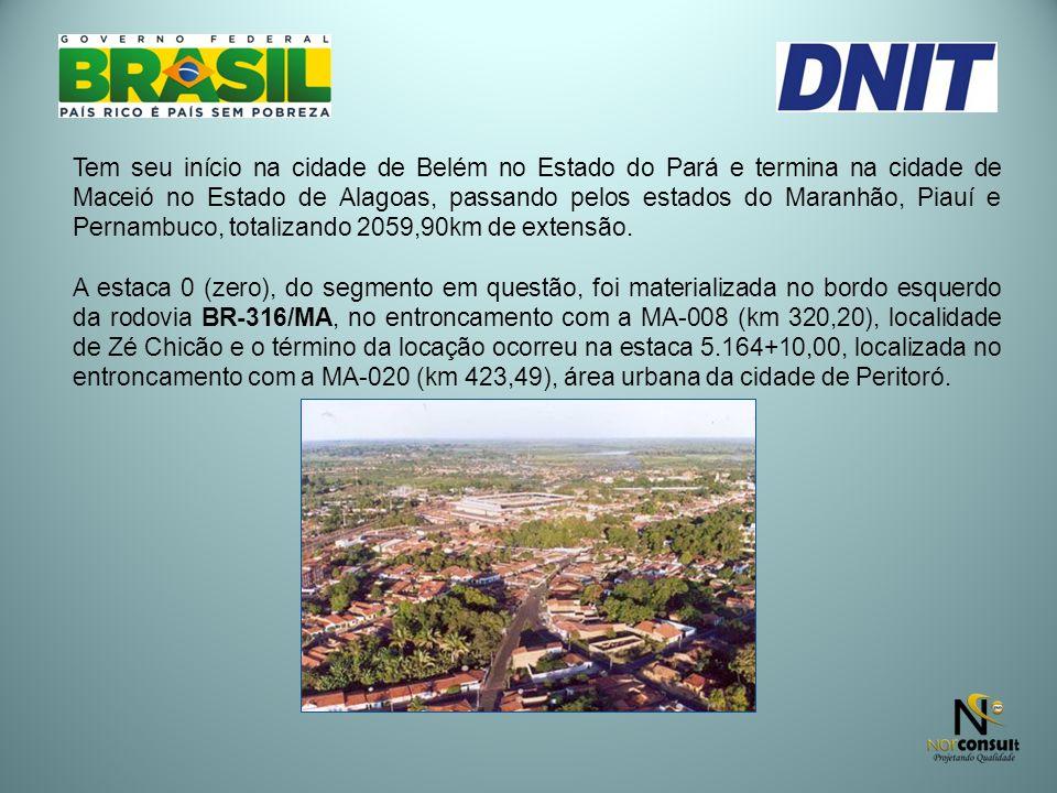 Tem seu início na cidade de Belém no Estado do Pará e termina na cidade de Maceió no Estado de Alagoas, passando pelos estados do Maranhão, Piauí e Pe