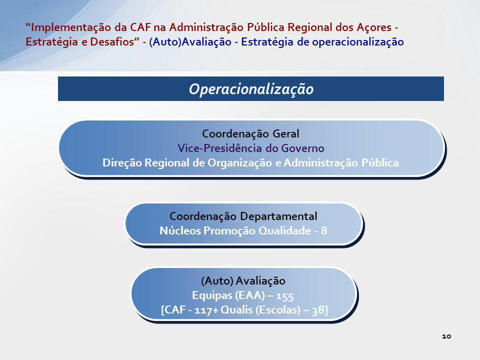 Operacionalização Coordenação Geral Vice-Presidência do Governo Direção Regional de Organização e Administração Pública Coordenação Geral Vice-Presidê