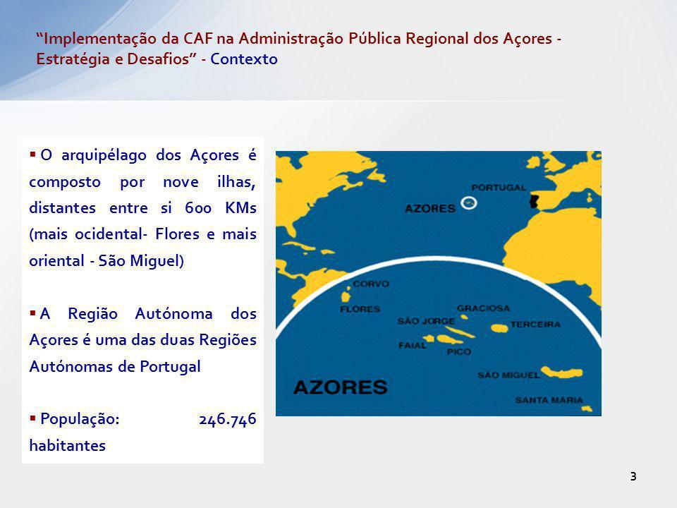 3 O arquipélago dos Açores é composto por nove ilhas, distantes entre si 600 KMs (mais ocidental- Flores e mais oriental - São Miguel) A Região Autóno