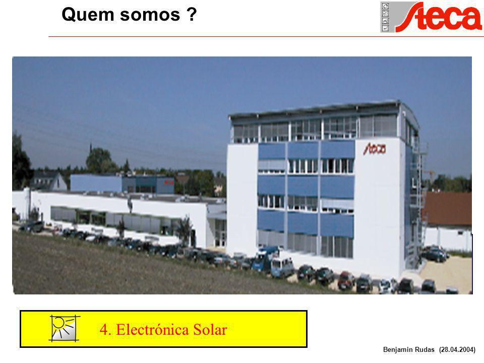 4. Electrónica Solar Quem somos . 1. Electronica tecnologia avanzada 2.