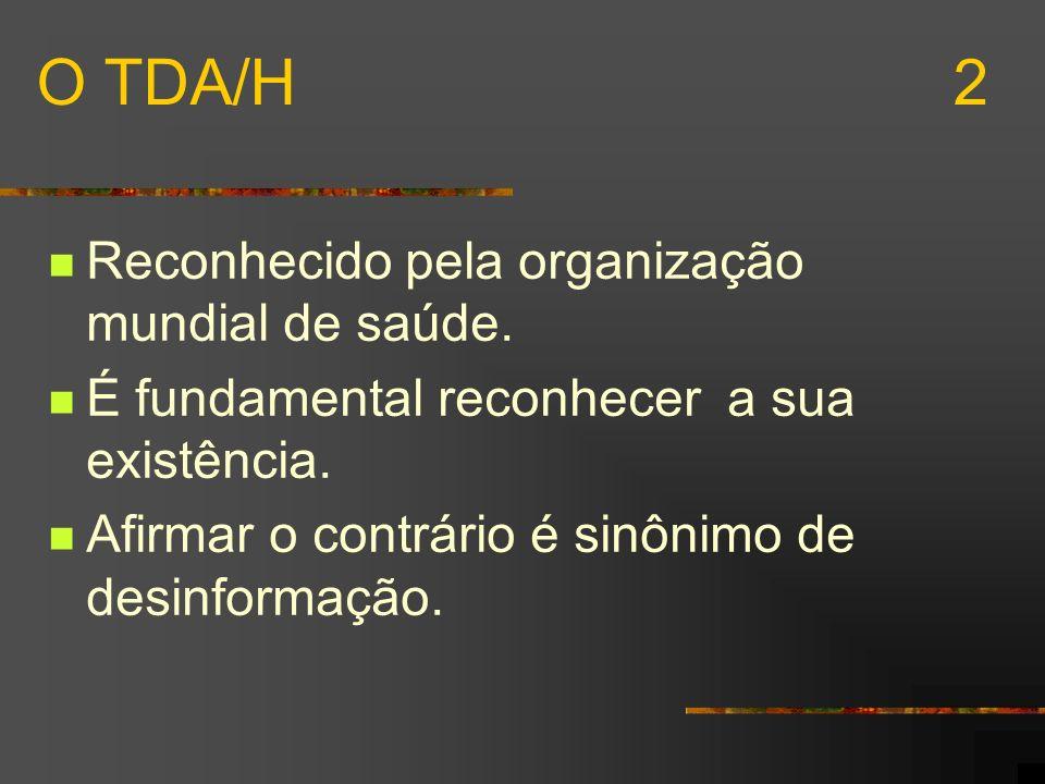 TDA/H - COM PREDOMÍNIO DE SINTOMAS DE DESATENÇÃO Apresentam pelo menos 6 sintomas da lista dos sintomas de desatenção.