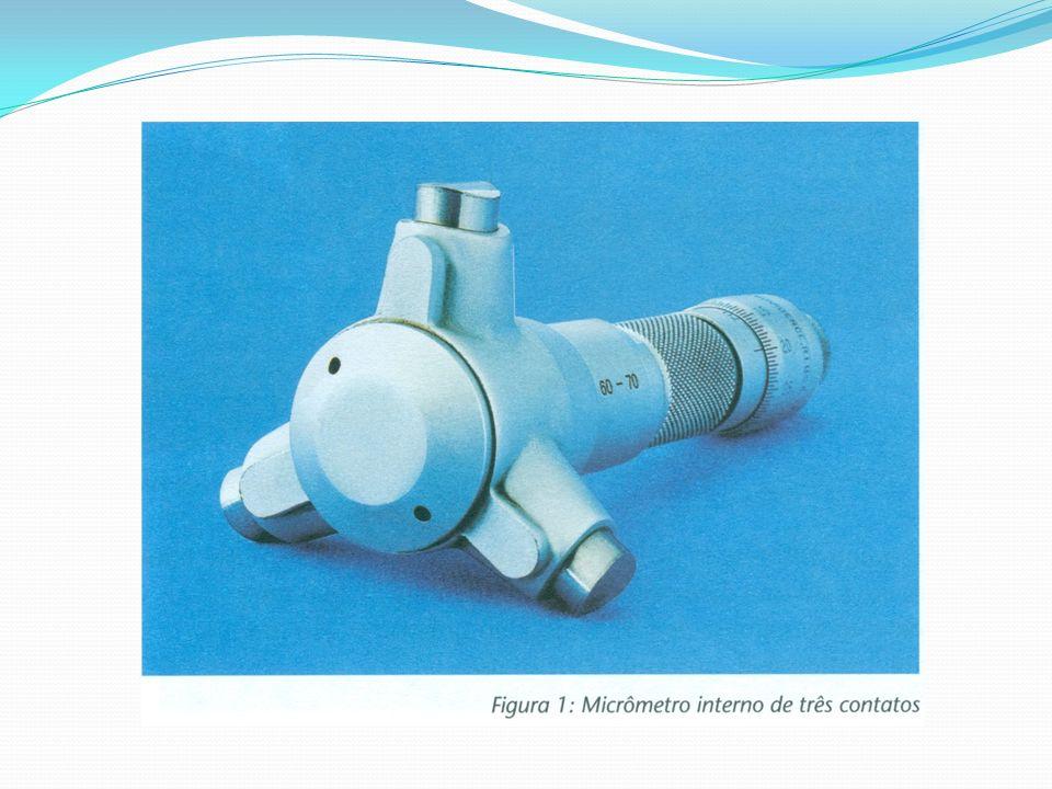 Micrômetro tipo paquímetro Esse micrômetro serve para medidas acima de 5 mm e, a partir daí, varia de 25 em 25 mm.