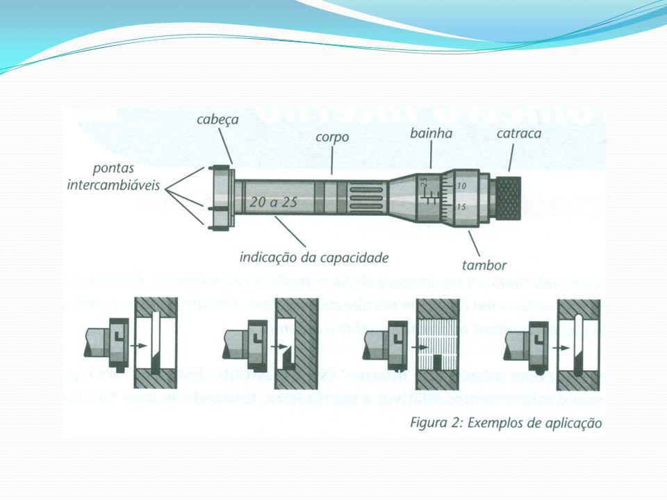 Para obter a resolução, basta dividir o passo do fuso micrométrico pelo número de divisões do tambor.