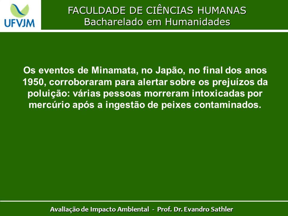 FACULDADE DE CIÊNCIAS HUMANAS Bacharelado em Humanidades Avaliação de Impacto Ambiental - Prof. Dr. Evandro Sathler Os eventos de Minamata, no Japão,