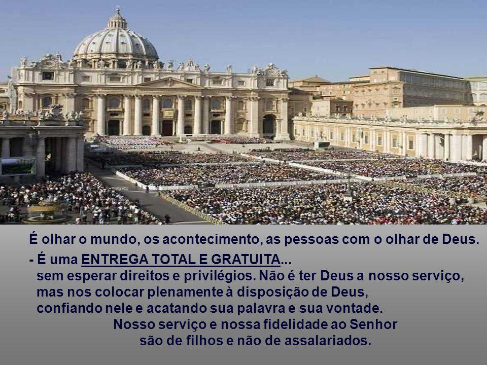 - Não é apenas uma ADESÃO INTELECTUAL a verdades aprendidas na catequese, a uns ritos de religiosidade popular. Não é um recurso para conseguir determ