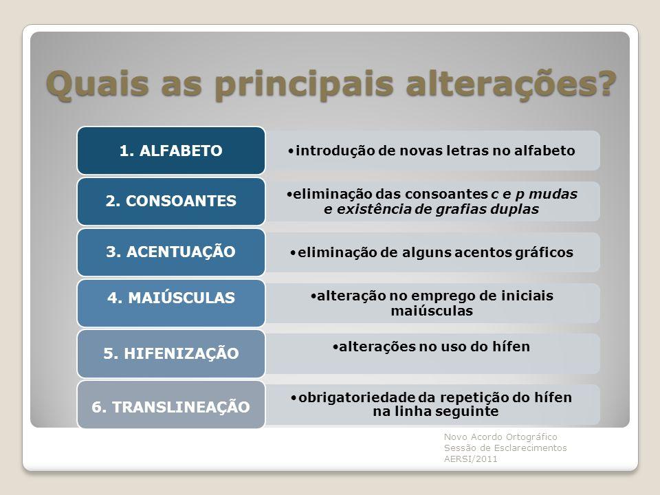 1.ALFABETO O alfabeto da Língua Portuguesa passa a ter oficialmente 26 letras.
