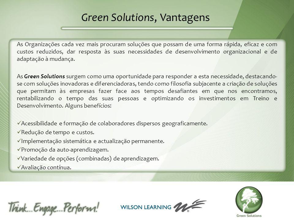 Green Solutions, Vantagens As Organizações cada vez mais procuram soluções que possam de uma forma rápida, eficaz e com custos reduzidos, dar resposta