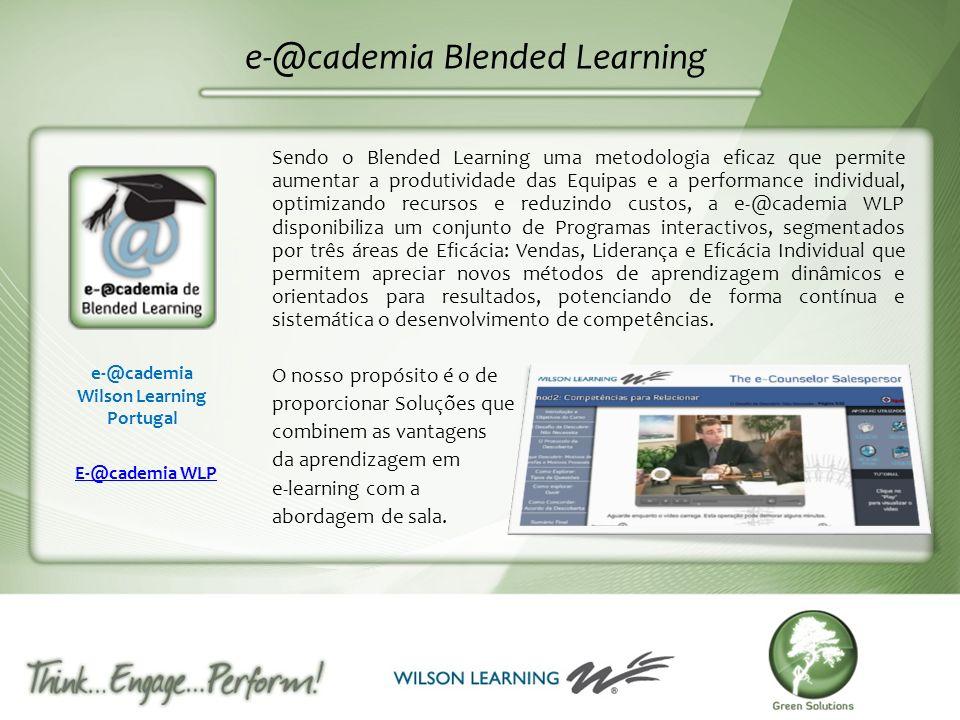 e-@cademia Blended Learning Sendo o Blended Learning uma metodologia eficaz que permite aumentar a produtividade das Equipas e a performance individua