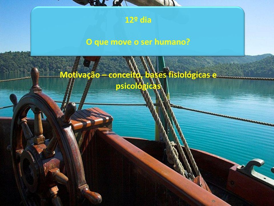 12º dia O que move o ser humano? Motivação – conceito, bases fisiológicas e psicológicas