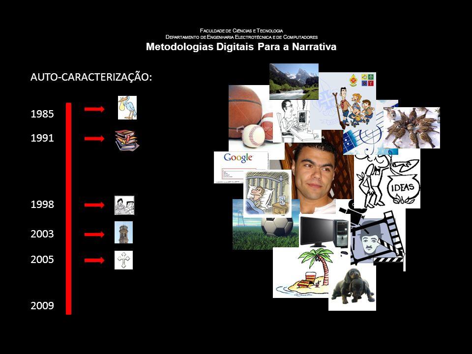 U NIVERSIDADE DE C OIMBRA F ACULDADE DE C IÊNCIAS E T ECNOLOGIA D EPARTAMENTO DE E NGENHARIA E LECTROTÉCNICA E DE C OMPUTADORES Metodologias Digitais Para a Narrativa NOME: Leonel Gonçalves Frade NASCIDO: 3 DE Maio de 1985 NATURAL: Seixo de Mira ESTADO CIVIL: Solteiro