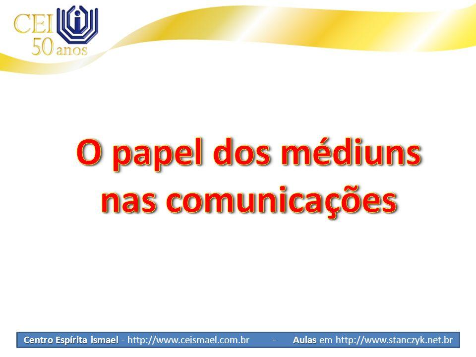 Interferência do médium Papel do médium Papel Passivo ou ativo.