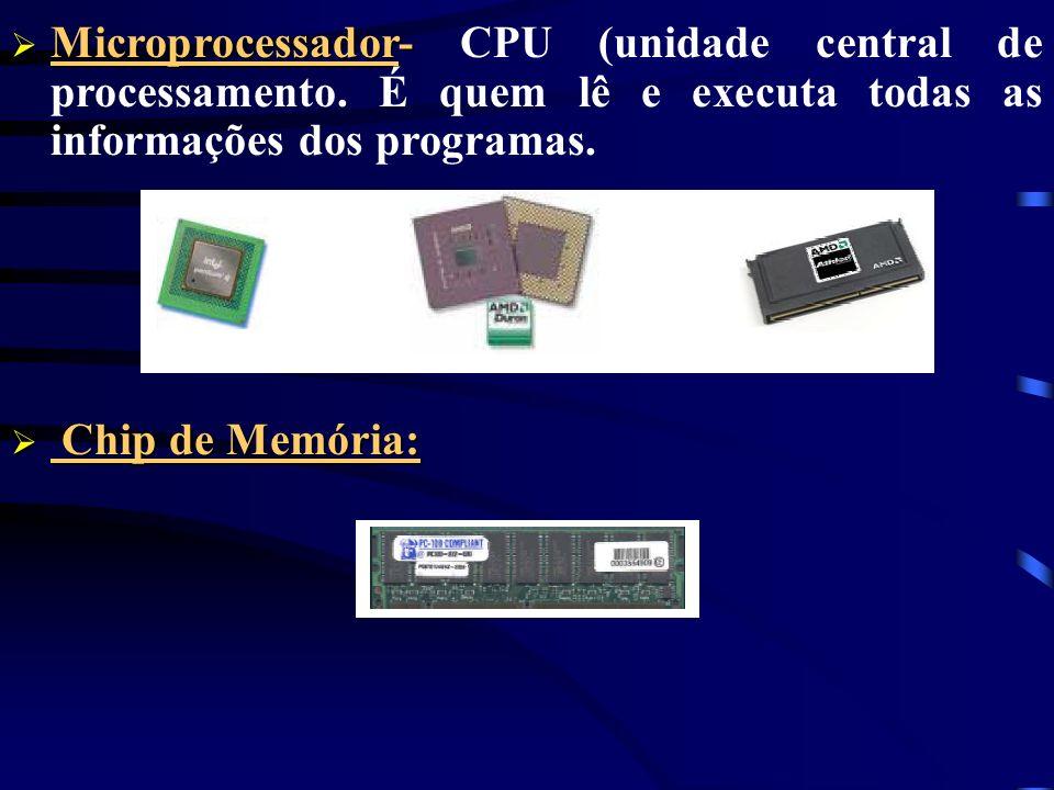 Microprocessador- Microprocessador- CPU (unidade central de processamento.