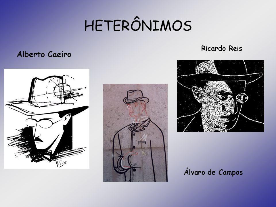 HETERÔNIMOS Alberto Caeiro Ricardo Reis Álvaro de Campos