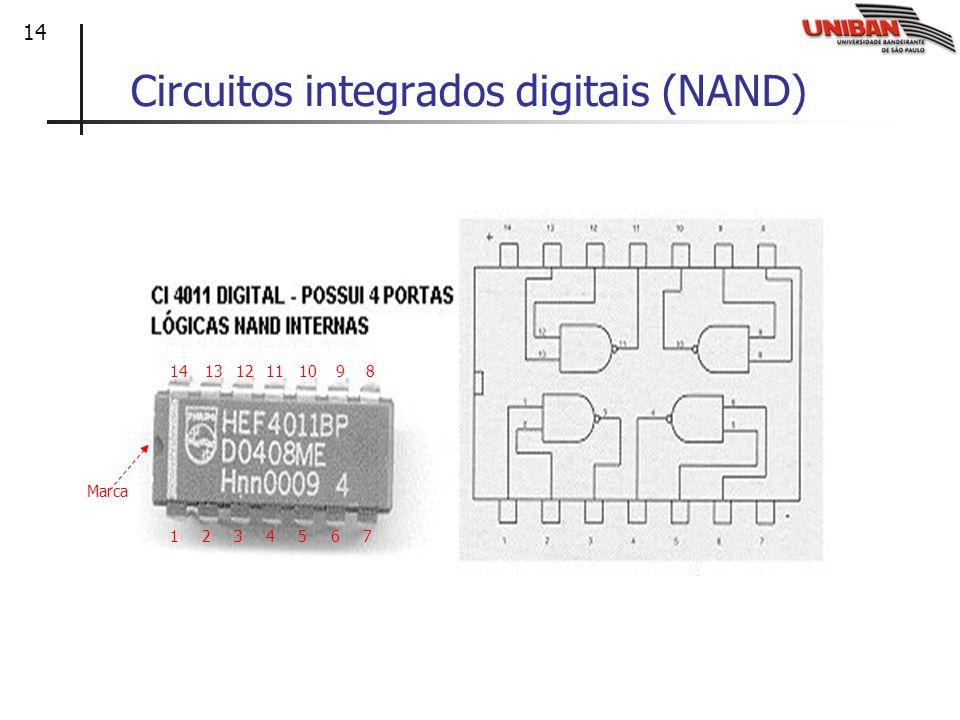 14 Circuitos integrados digitais (NAND) 1234567 891011121314 Marca