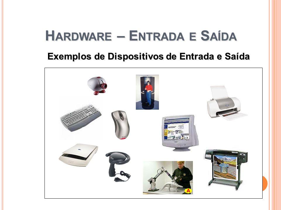 H ARDWARE – E NTRADA E S AÍDA 4 Exemplos de Dispositivos de Entrada e Saída