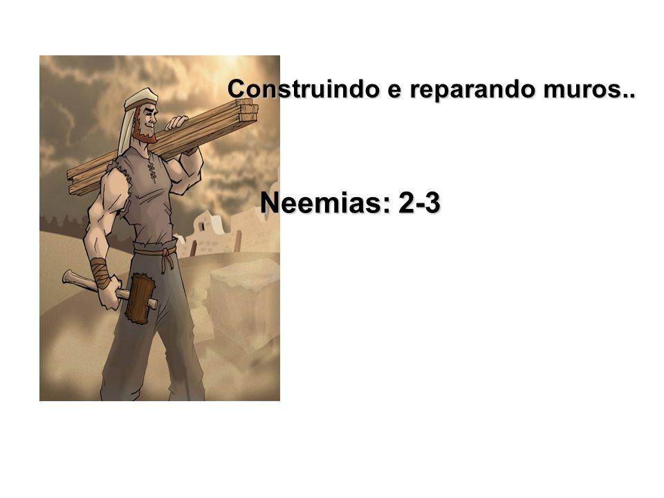 Construindo e reparando muros.. Neemias: 2-3