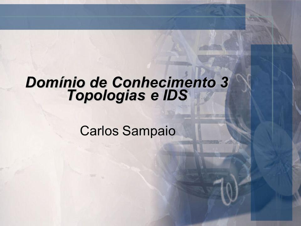 Domínio de Conhecimento 3 Topologias e IDS Carlos Sampaio