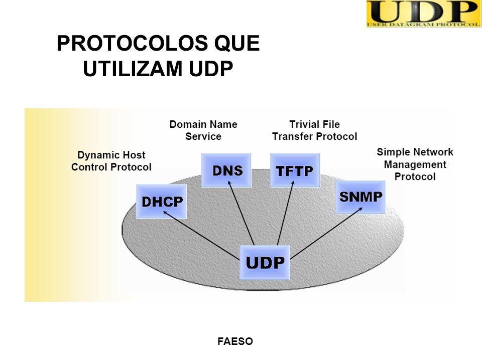 FAESO PROTOCOLOS QUE UTILIZAM UDP