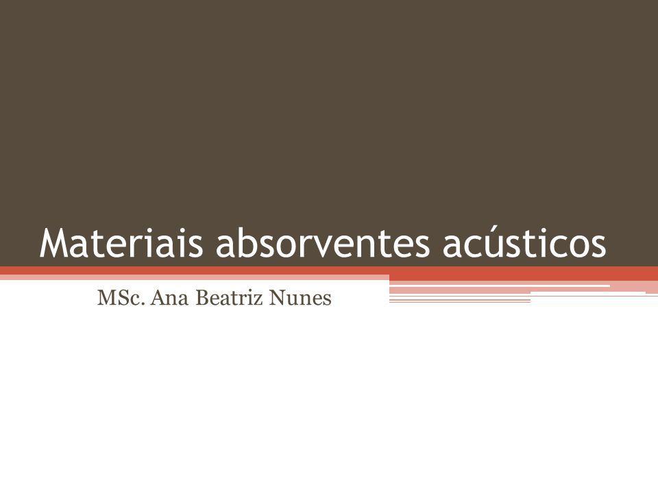 Materiais absorventes acústicos MSc. Ana Beatriz Nunes