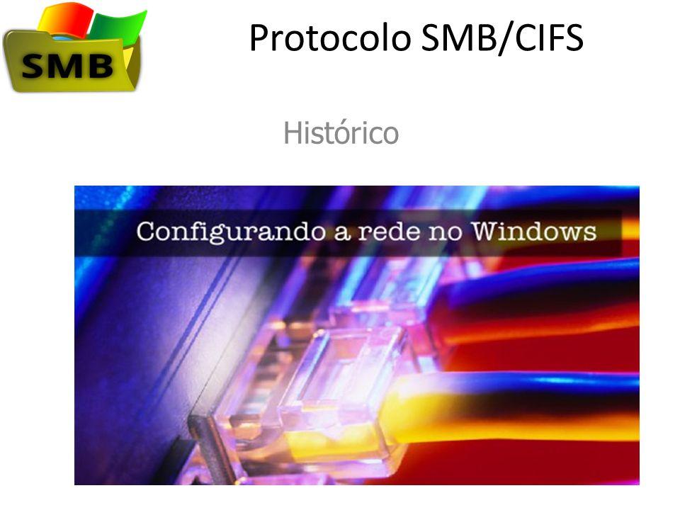 Protocolo SMB/CIFS O SMB começou com a IBM e foi implementado pela Microsoft à medida que a empresa começou a adaptar seus produtos para redes no início dos anos 1990.