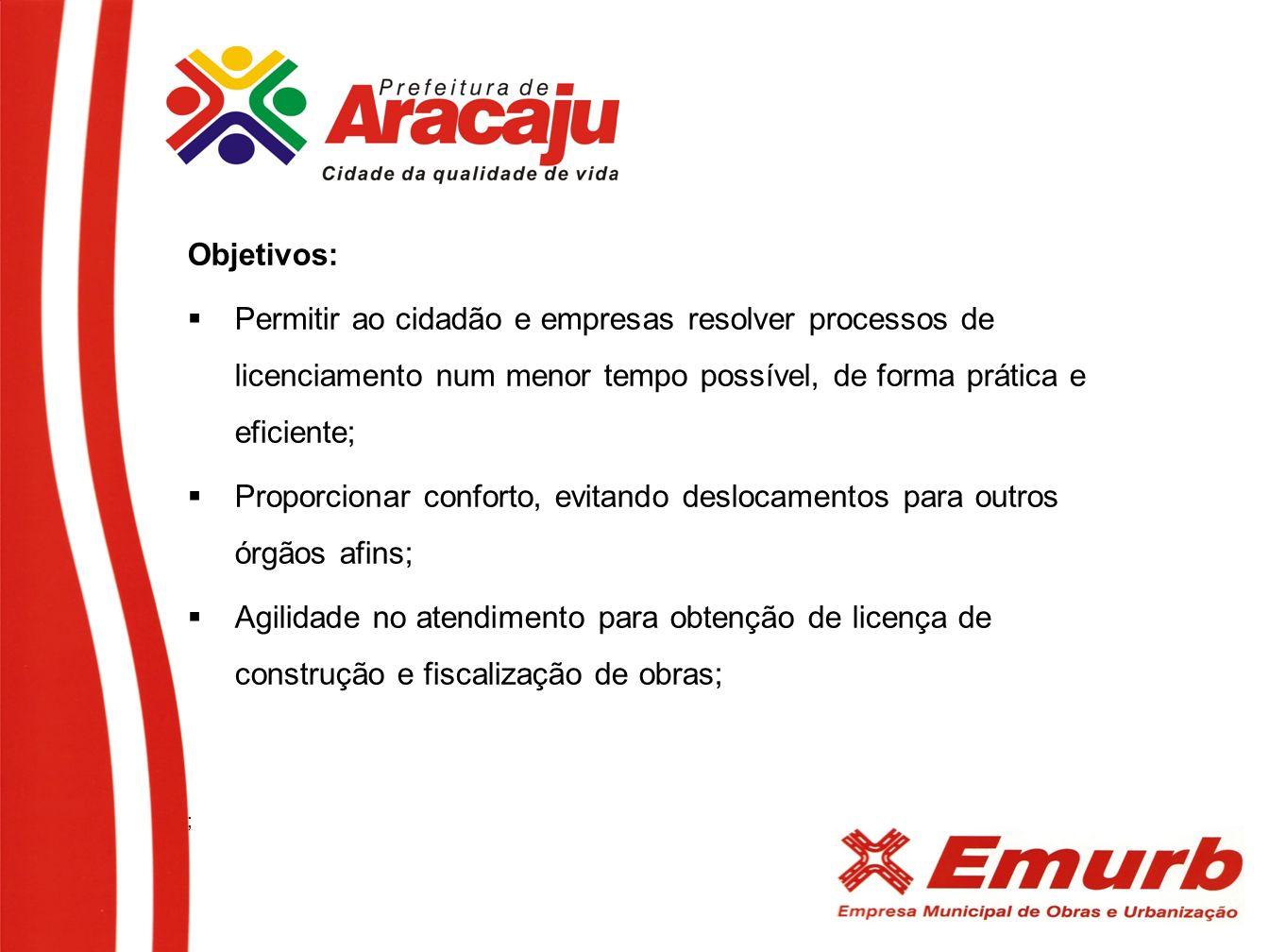 Objetivos: Permitir ao cidadão e empresas resolver processos de licenciamento num menor tempo possível, de forma prática e eficiente; Proporcionar con