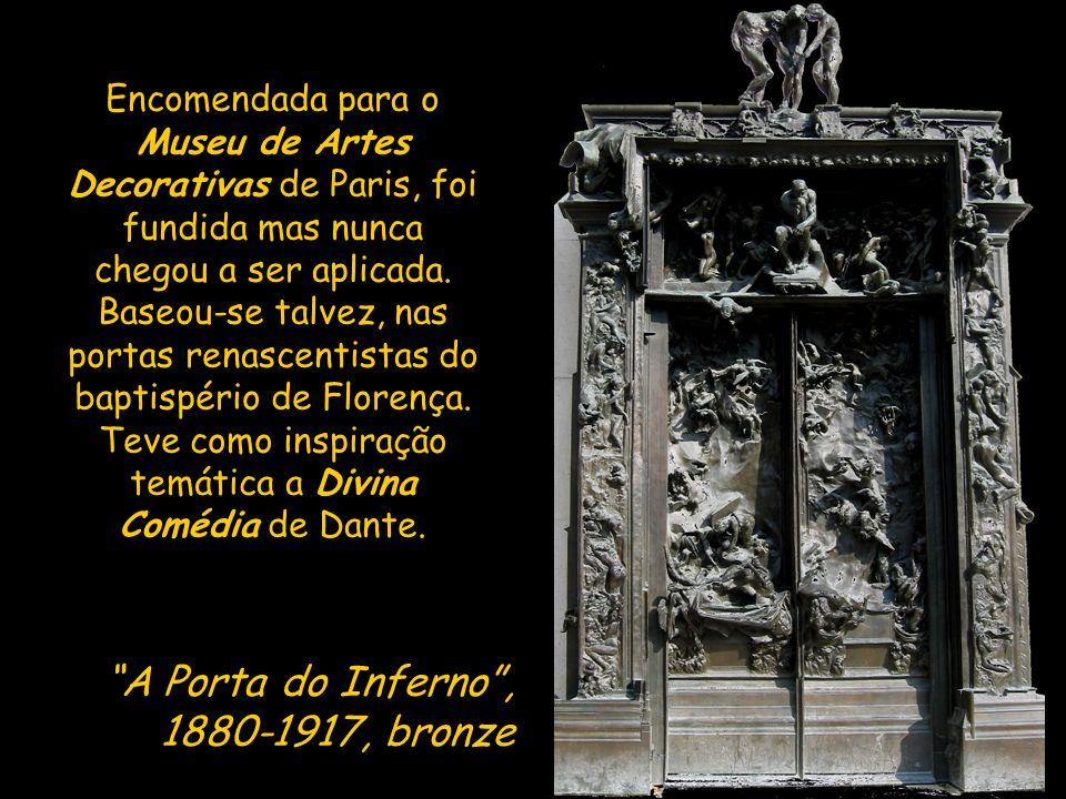 Esta obra foi concebida para o centro do tímpano da Porta do Inferno.